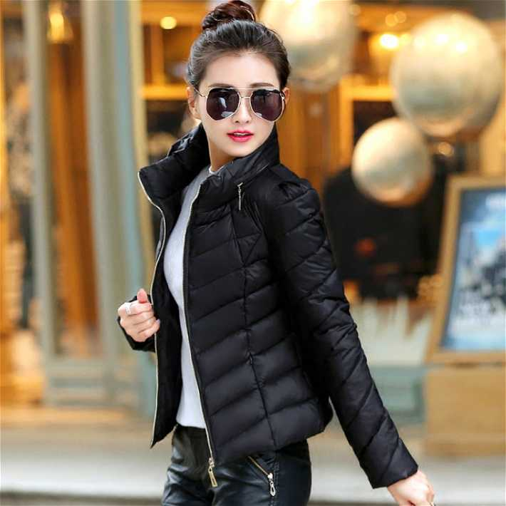 Winter Jacket Women 2016 Fashion Slim Short Cotton-padded Plus Size Coat Female Stand Collar Parka Light Outerwear A3945 dhl ems 5 lots original nv l22m nvl22m breaker 15a a1