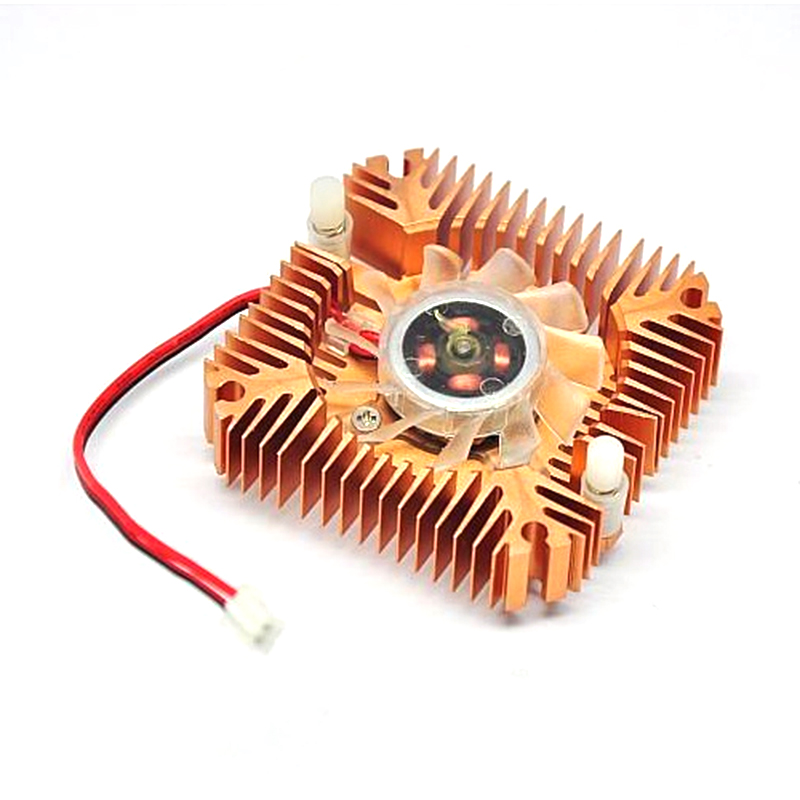Centechia Mini 55mm 2 PIN Graphics Cards Cooling Fan Aluminum Gold Heatsink Cooler Fit For PC Computer CPU VGA Video Card 1pcs 2pin 55mm replacement fan pc computer vga video card cooling heatsink cooler free shipping