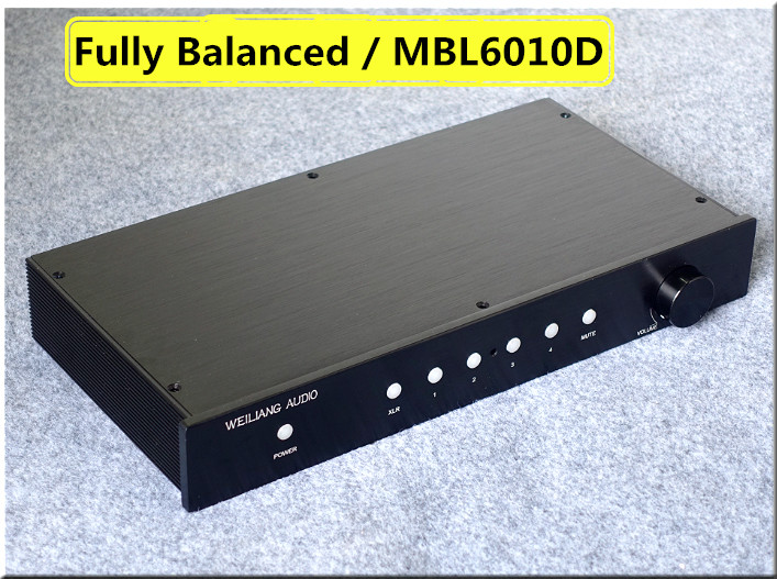 2017 New Nobsound Fully Balanced HiFi Single-Ended Class A Preamp Audio XLR/RCA Pre-Amplifier MBL6010 Circuit