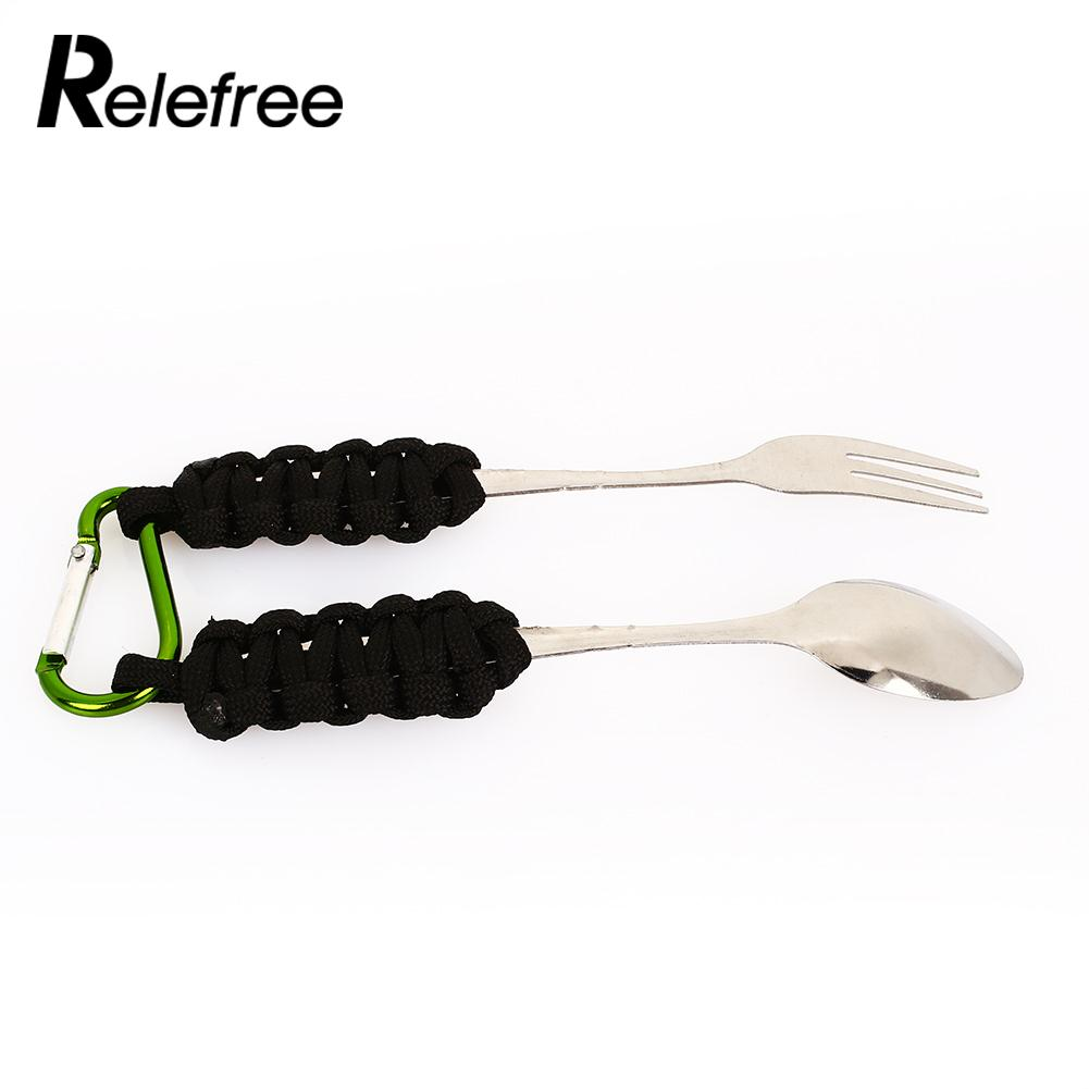 Mountaineering Buckle Hike Outdoor Tableware Outdoor Sports Portable Spoon Fork Outdoor Living Camping Spoon Fork Durable