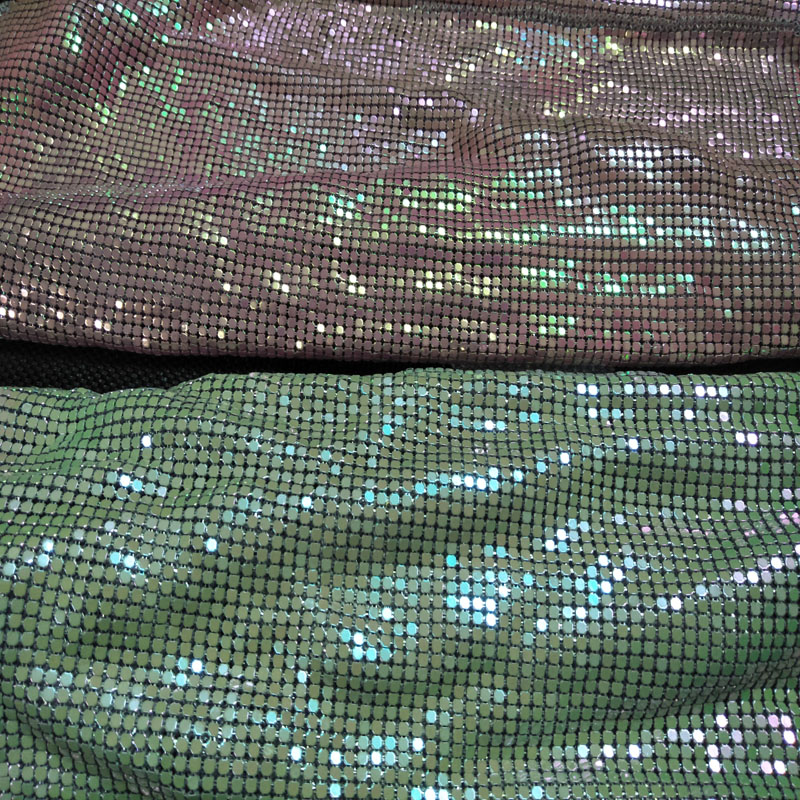 Pretty Bling Bling 45x30cm Iridescent Metal Fabric Metallic Sequined Fabric Home Decoration Dress Curtain