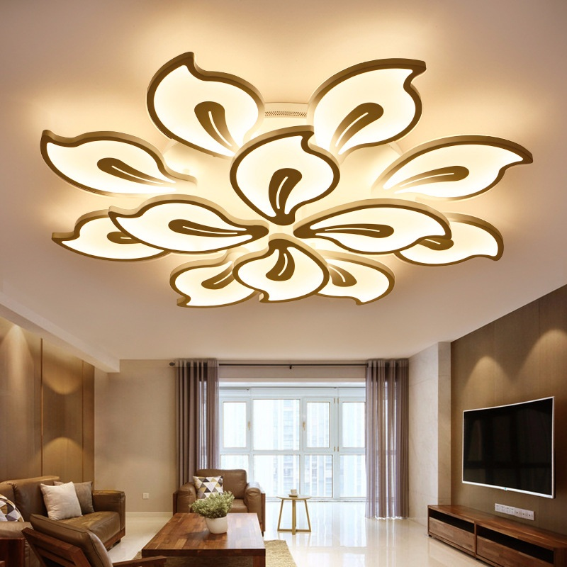 Creative flower type acrylic LED ceiling lamp Home Living Room Bedroom Study Room Aisle Ceiling Light commercial lighting ornamental ceiling flower designs