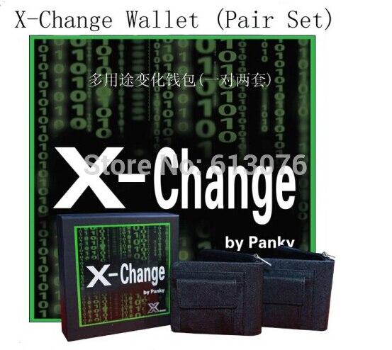 X-change portefeuille (une paire/ensemble)-tours de magie, illusions, magie de scène, mentalisme, accessoires, gimmick