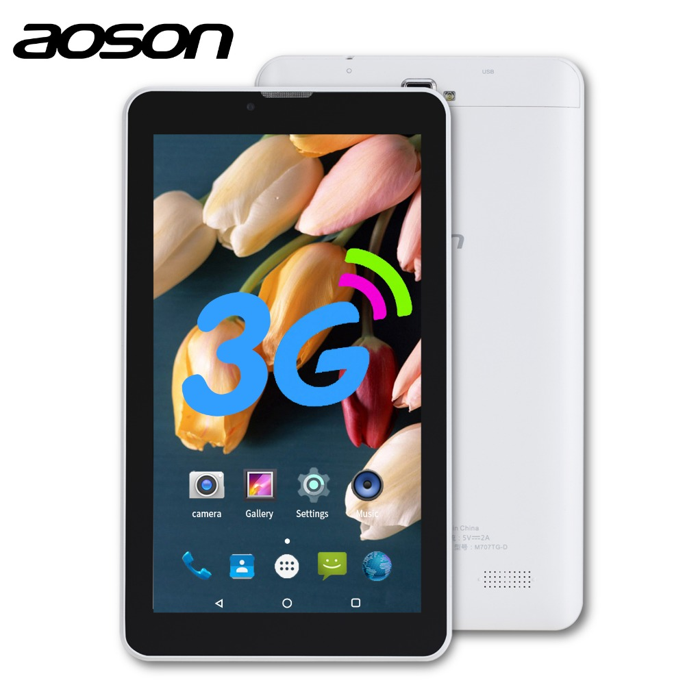AOSON S7 7 inch 3G Unlocked Smart phone Tablet PC Android 7 0 MTK8321 16GB Quad