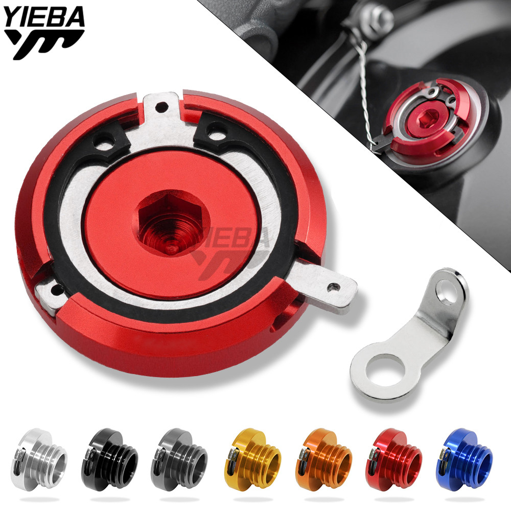 M20*2.5 CNC Motorcycle Engine Oil Filter Cover Cap For ducati 959 Panigale 2016 Desmosedici RR 2008 2009honda cbr250r cbr300r for yamaha tmax 500 530 mt09 m20 2 5 magnetic engine oil filler moto bike engine oil cap cover for honda ducati multistrada 1200
