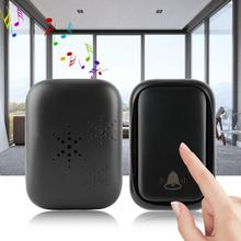 2V1 Wireless Doorbell Kit Self-generating 2 Transmitters Receiver Door Bell 58 Chime