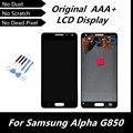 100% de visualización original del lcd para samsung galaxy alpha g850 g850f g850m g850k g850s + touch asamblea del digitizador blanco/gris/oro
