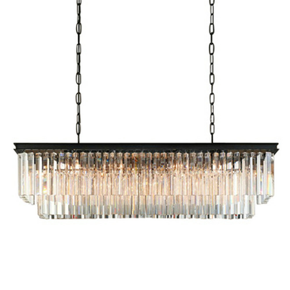 Chandelier Lighting Large Long Crystal Chandeliers Contemporary Chandelier for Dining Room 6 8 Light E14 Clear Crystal Lamp