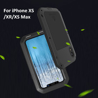 LOVEMEI Powerful Metal Waterproof Cover For iPhone XS Max Case Aluminum ShockProof Back Cover Defender Phone Case For iPhone XR