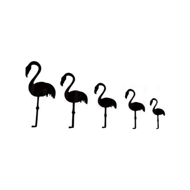 Rylybons PCS Figure Family Flamingos Car Sticker Wall Home Glass - Family decal stickers for carscar truck van vehicle window family figures vinyl decal sticker