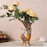 Europejskie żywiczne paw wazon, akcesoria dekoracje ślubne