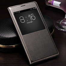 QTNED Smart View Auto Sleep Wake Up Leather Case Phone Cover With IC Chip For Samsung Galaxy S5 I9600 G900 G900F G900H G900M