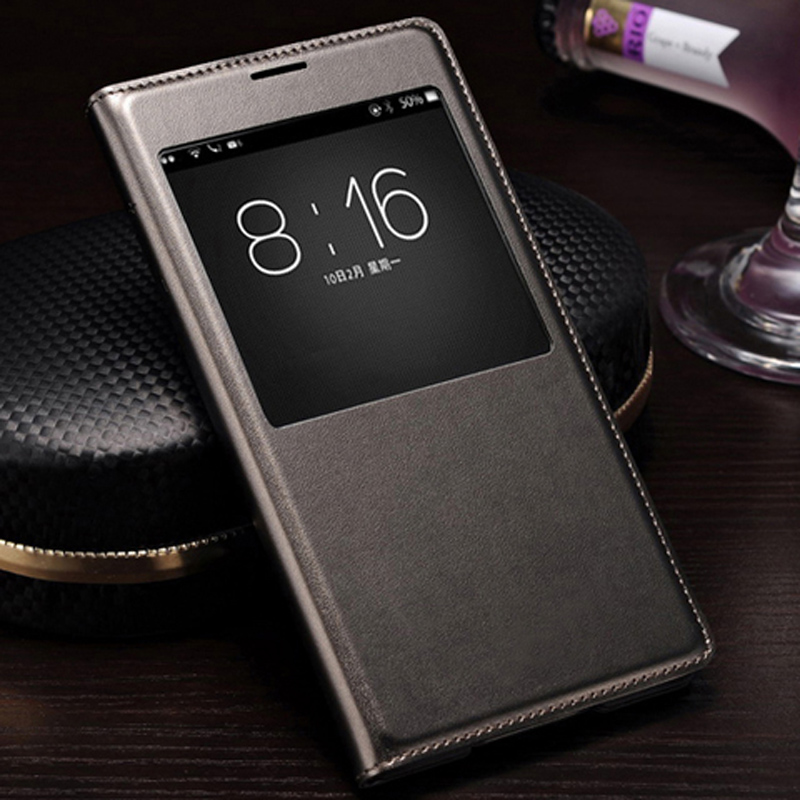 QTNED Smart View Auto Sleep Wake Up Leather <font><b>Case</b></font> Phone Cover With IC Chip For <font><b>Samsung</b></font> <font><b>Galaxy</b></font> <font><b>S5</b></font> I9600 G900 <font><b>G900F</b></font> G900H G900M image