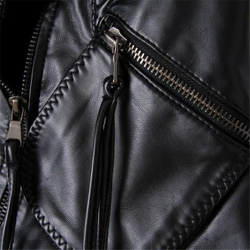 Section Veste En Élégant Courte Nouveau Cuir De Femmes Minceur Mode Coréenne 2018 Printemps Pu Manteau Noir Bombardiers Moteur Style qvwfEUI