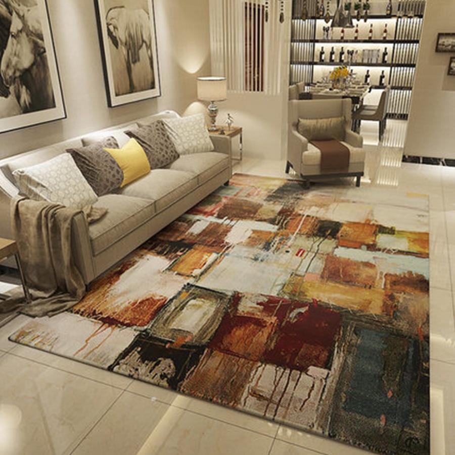 Velvet Soft Carpet Area Rug Slip Resistant Door Floor Mat For Bedroom Livingroom Not Fade Not Drop Hair