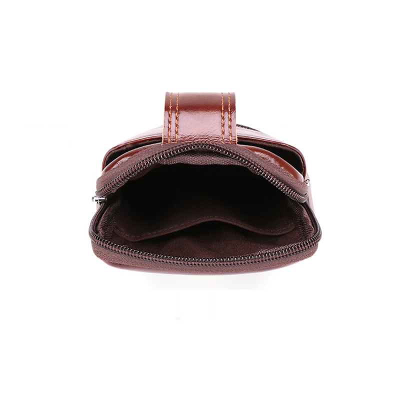 Genuine Leather Waist Packs Fanny Pack Belt Bag Phone Pouch Bags Travel Waist Pack Male Small Waist Bag Leather Pouch in Waist Packs from Luggage Bags