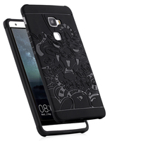 BIBOVI Anti Knock 3D Carved Dragon Protector Shell Cover Fundas For Huawei Mate S Soft Silicon