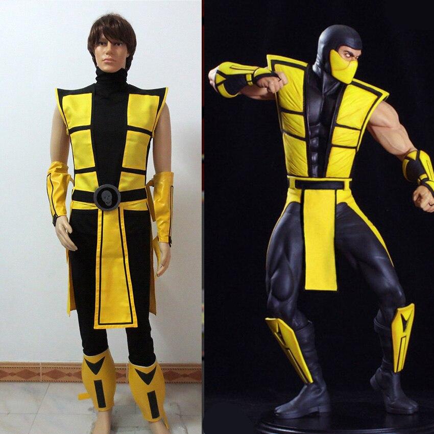 Scorpion Mortal Kombat 3 Kuning Pakaian Kostum Cosplay Tailor Made Cosplay Costume Scorpion Mortal Kombatcostume Cosplay Aliexpress