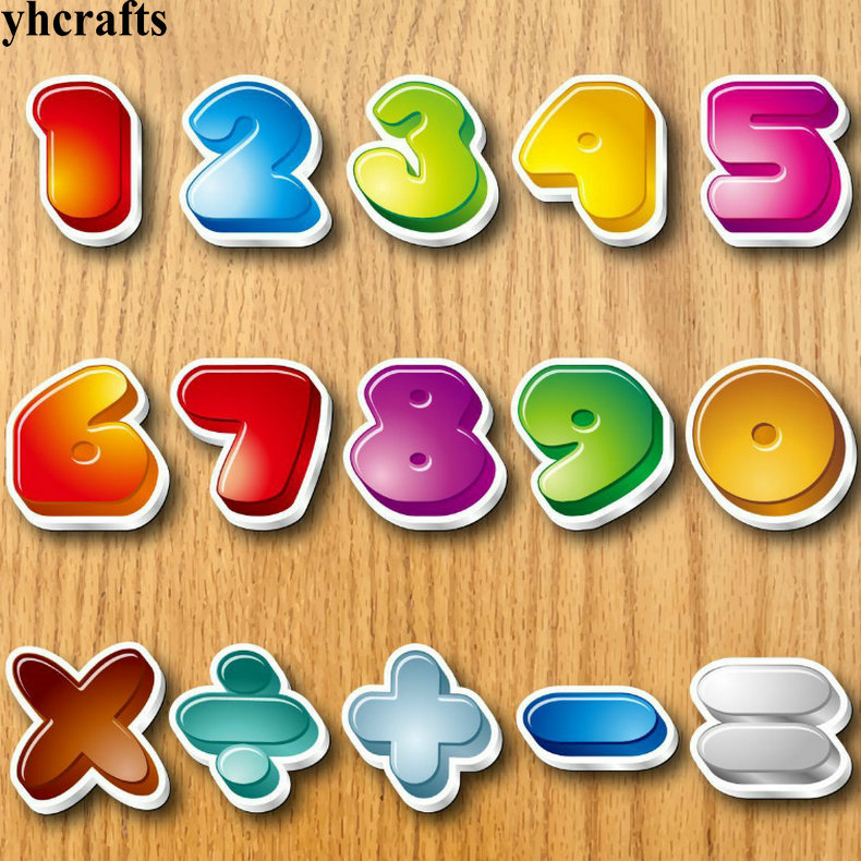 US $8.88 |150PCS/LOT.0 9 numbers math symbol magnet Early learning  educational toys Math learning Teach your own Self learning Whiteboard-in  Stickers ...