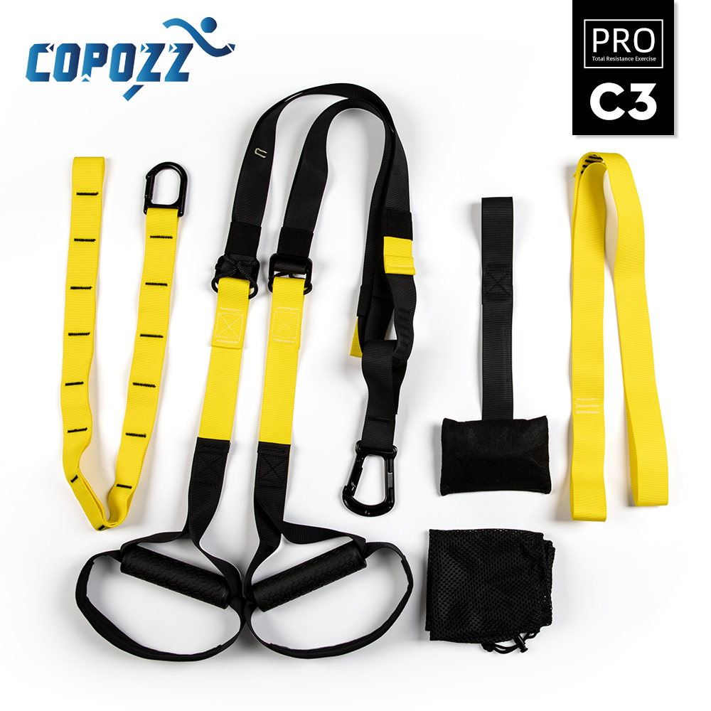 COPOZZ Resistance Bands Training Hanging Belt Equipment Sport Gym Workout Fitness Suspension Exercise Pull Rope Straps