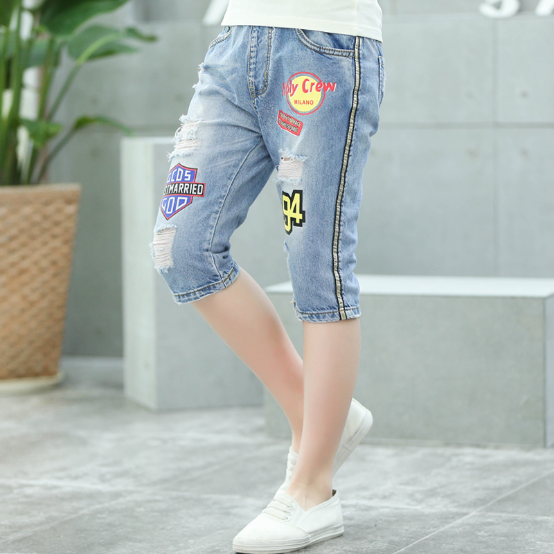 Aliexpress.com : Buy Boys Summer Ripped Jeans Shorts & Capris ...