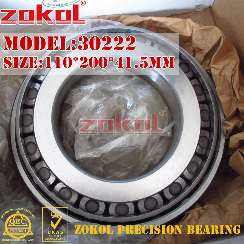 ZOKOL bearing 30222 7222E Tapered Roller Bearing  110*200*41.5mm zokol bearing 31310 27310e tapered roller bearing 50 110 29 5mm
