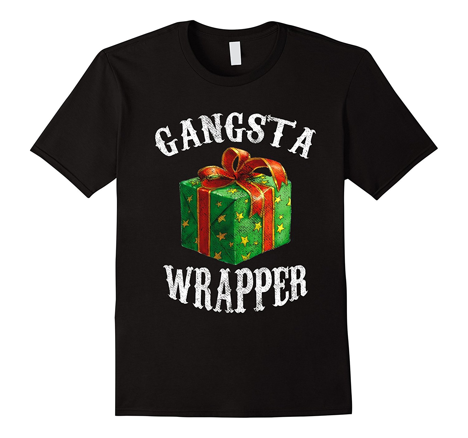 Gangsta Wrapper Novelty T-Shirt Funny Holiday Christmas Gift