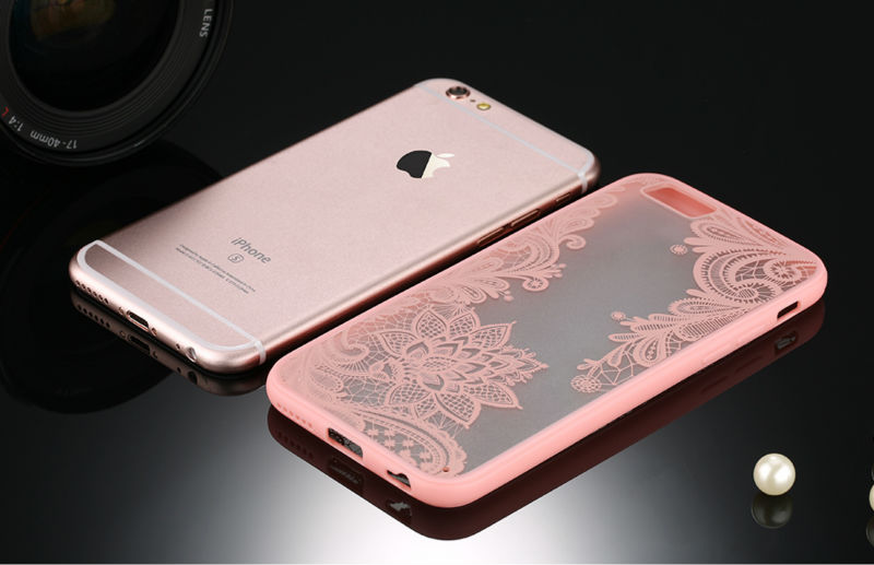 Sexy Retro Floral Phone Case For Apple iPhone 7 6 6s 5 5s SE Plus Lace Flower Hard PC+TPU Cases Back Cover Capa For iPhone7Plus 8