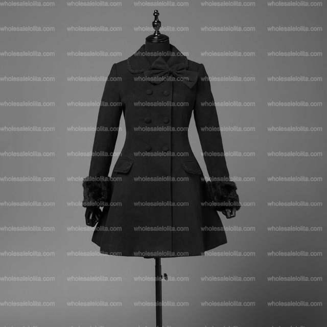 huge selection of 5274e 52fdd US $89.6 30% OFF|Womens Fall Vintage Cape Classic Lolita Dress Trenchcoat  Elegant Women Black Sweet Gothic Lolita Style Warm Winter Coat-in Wool & ...