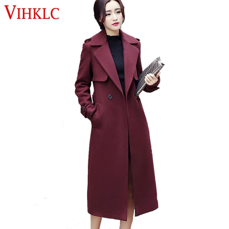 Long Black Wool Coat Womens