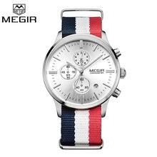 Megir d'origine hommes montre femmes montres mode sport quartz montres bracelet en toile montre-bracelet relogio masculino horloge hommes étudiants