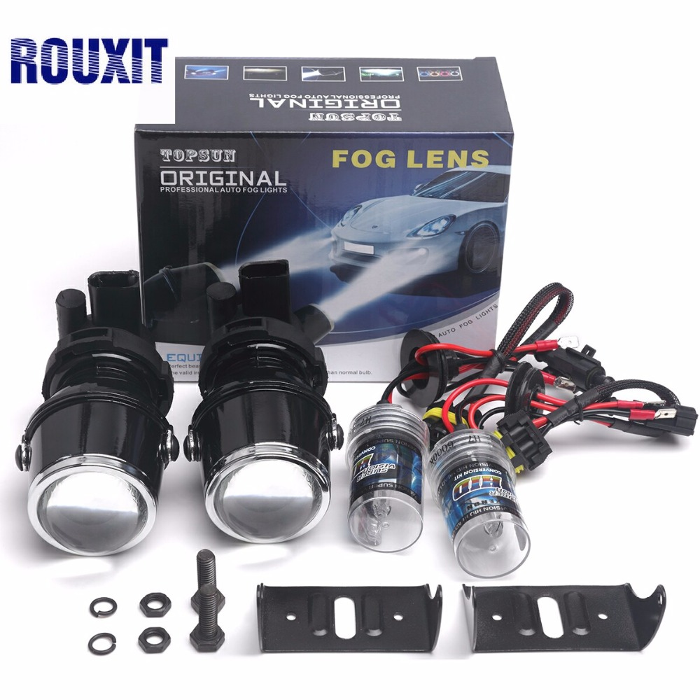 2 inch H3 xenon hid Car FOG LIGHT PROJECTOR LENS Kit 35W High Power Fog lights Projector Lenses 12V projector car HID Fog Lamps