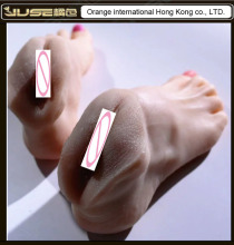 Top Quality Foot Fetish Toys,Solid Silicone Vagina Feet,Adult Toys for Adult,Lifelike Skin Fake Feet Vaginal Masturbator, FT-006