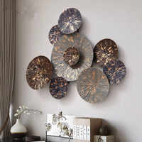 3D stéréo en fer forgé forme ronde décoration murale Art maison salon cuisine peinture murale moderne R648