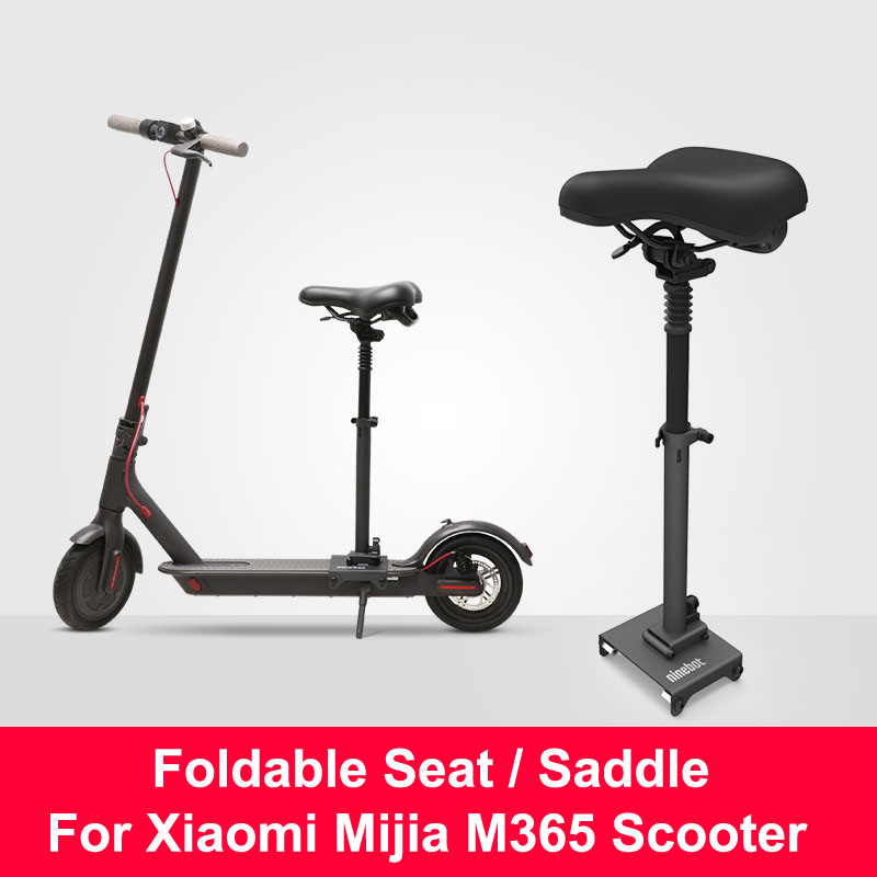 купить Original Xiaomi M365 Scooter Seat Foldable Saddle Electric Scooter Chair Height Adjustable Seat for Xiaomi Mijia M365 Scooter по цене 6462.92 рублей