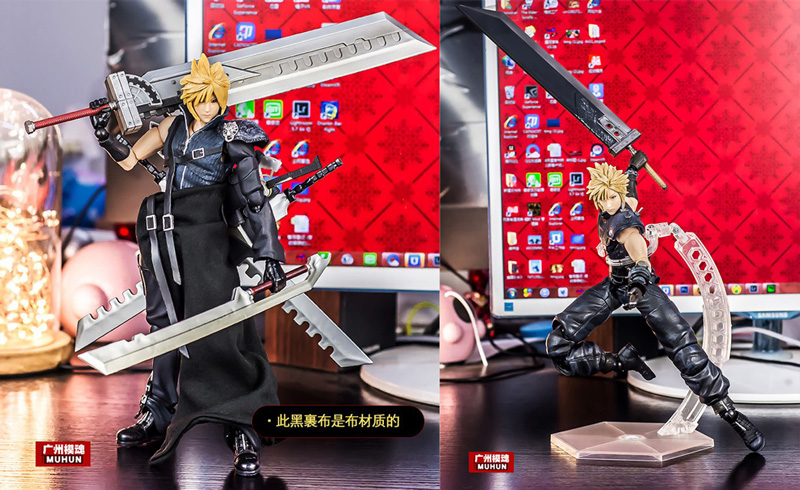 2 Edition Play Arts Kai Game Film Final Fantasy VII 7 Advent Children Cloud Strife Action Figure anime folding wallet final fantasy vii cloud strife sephiroth high quality short pu purse free shipping