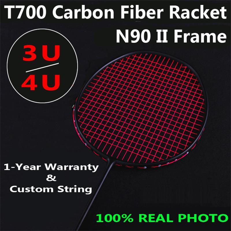3U/4U 30lbs T700 Carbon Fiber Chinese Badminton Team Training Badminton Racket 5 Colors