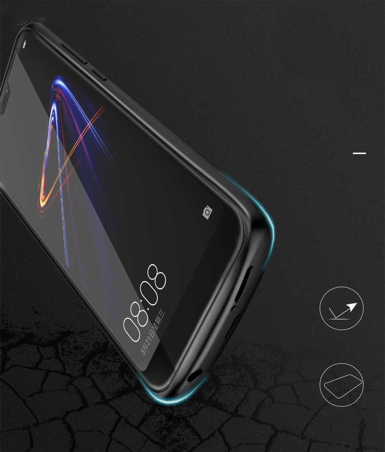 Silicone shockproof Battery Charger Case For Huawei P20 Lite Nova 3e Honor 10 8 9 Cases Charging Back Cover External Power Bank