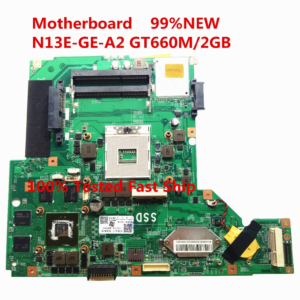 99 NEW FOR MSI GE70 Laptop Motherboard HM76 MS 17561 DDR3 PGA 989 N13E GE A2