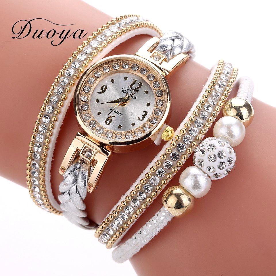 High Quality Beautiful Fashion Women Bracelet Watch Ladies Watch Casual Round Analog Quartz Wrist Bracelet Watch For Women Clock