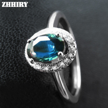 Natural sapphire gem ring Genuine Solid 925 sterling silver Deep dark blue Real precious stone woman rings fine Jewelry