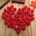 50 Unids/bolsa Flor De Rose para La Decoración 11 Colores Al Por Mayor Hecho A Mano DIY Decoración del Hogar de La Boda Cabeza De Flor Artificial