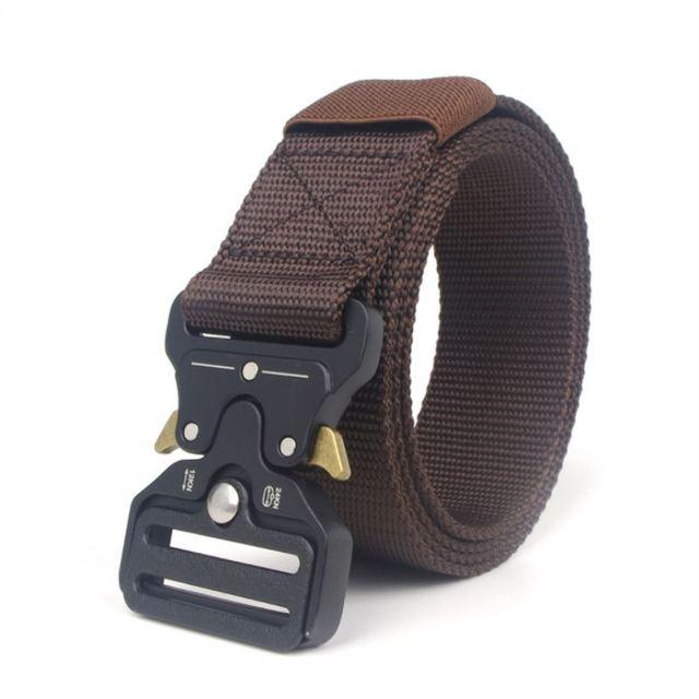 BOKADIAO men women canvas belt Quick release Metal buckle military nylon Training belt long size Army tactical belts strap male