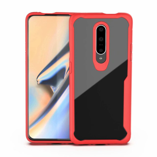 Heavy Duty Protection phone case for one plus 6 7 6t bumper protect Dirt resistant plain fitted case shockproof with free straps