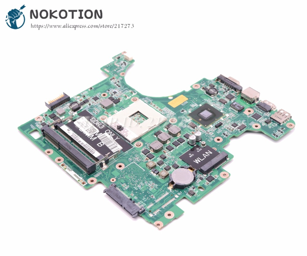 NOKOTION For Dell Inspiron 1564 Laptop Motherboard CN-0F4G6H F4G6H 0F4G6H DAUM3BMB6E0 MAIN BOARD HM55 UMA DDR3 cn 0ptnpf 0ptnpf ptnpf main board for dell inspiron 3421 5421 laptop motherboard 1017u cpu ddr3