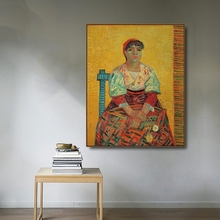 The Italian Woman by Vincent Von Gogh Poster Print Canvas Painting Calligraphy Home Decor Wall Art Pictures for Living Room