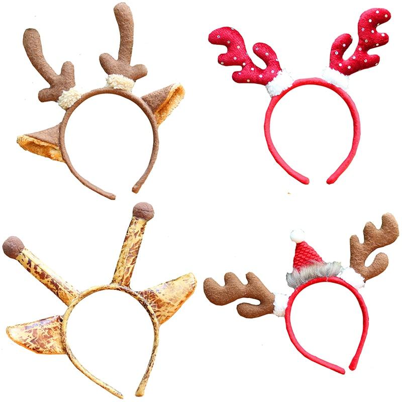 unidslote tamao universal de dibujos animados cintas para el pelo bandas para la cabeza de animal lindo reno de navidad deco
