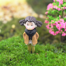 Mini Girl Boys Dolls Model Figures Micro Landscape Fairy Garden Gnomes Figurine Ornaments Decoration Miniature DIY zakka groceries elephant puppy kitty kangaroo pvc action figures toy diy micro garden landscape decoration props children gifts