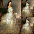 2019 New customer-made Vintage Costumes Victorian Dress Civil War Southern Belle Gown Marie Antoinette dresses US4-36 C-326