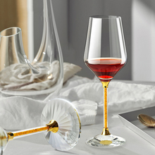 1 Pairs lead-free Crystal Diamond Wine Glass Home Goblet Wedding Gift Champagne Drinkware